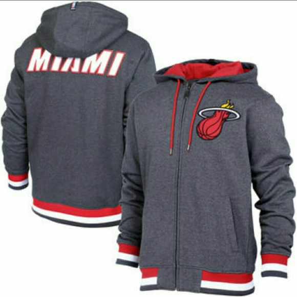 quality design 81e78 ebf5e New NBA UNK Miami Heat MVP Zip Hoodie