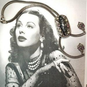 RARE vintage Selro Selini confetti Lucite necklace