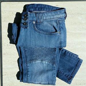 LF CARMAR Moto Skinny Jeans! Size 27