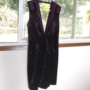 Brand new purple velvet cocktail dress