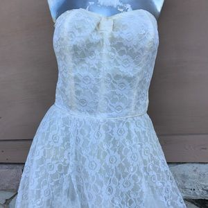 50s Full Lace Corset Wedding Party Gown Stunning