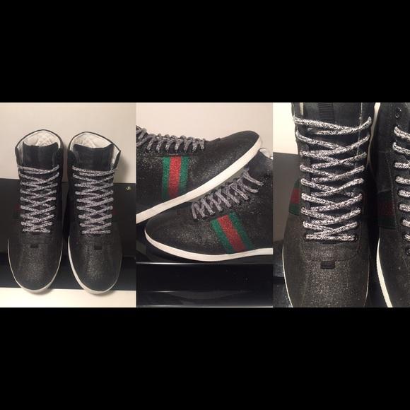 8f15f10caf5f Gucci Shoes | Crystal Bambi High Sparkle Stud 695 Limited | Poshmark