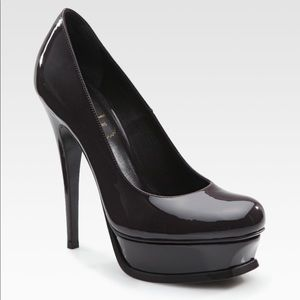 YSL patent leather Tribute in BLACK