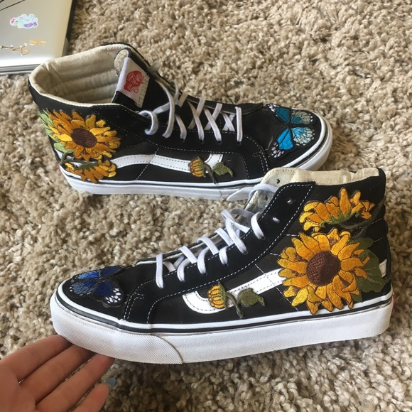 Custom Sunflower Sk8-highs. M 59d54539713fdef5dc003728. Other Shoes you may  like. Vans 7499b6734
