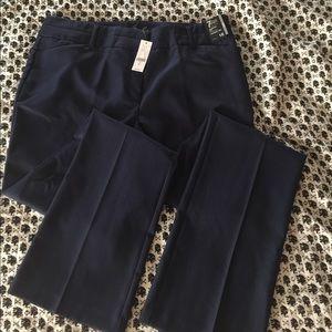 NY & Co. Navy Blue Straight Leg Dress Pants