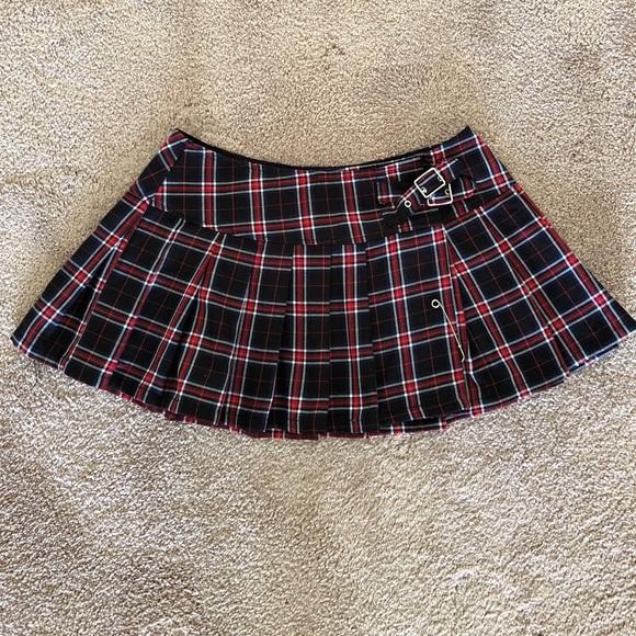 cc6db3fac3ae00 Lip Service Dresses & Skirts - Lip Service Goth Punk Pleated Plaid Mini  Skirt