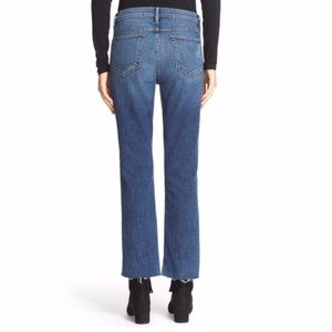 Frame Denim Jeans - Frame Denim 'Le High Straight' staggered hem jeans
