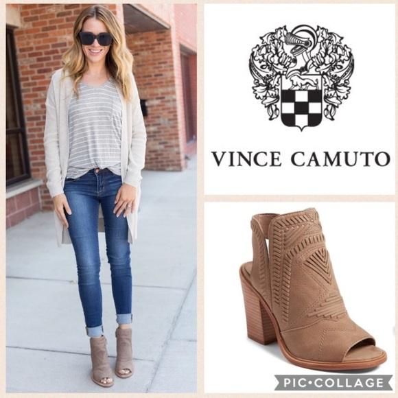 ea4bac0657 Vince Camuto Karinta Block Heel Bootie {Fr Taupe}6.  M_59d54be8522b4578050048c5