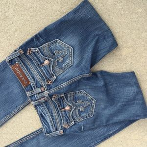 Rock revival whip stitch boot cut jeans 29 x 34