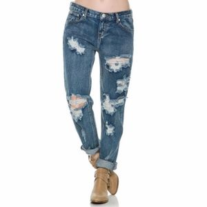 One Teaspoon awesome baggies ripped jeans