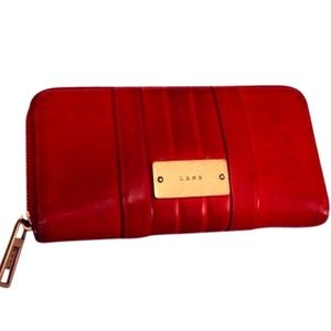 LAMB Red Leather Wallet