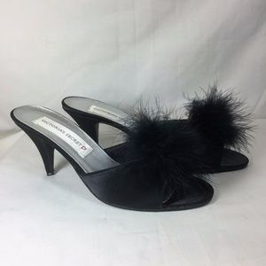 a620554f28ef Victoria s Secret Shoes - Victoria s Secret Marabou Puff High Heel Slippers