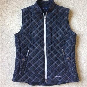 Eous women's black quilted fully lined vest Sz M