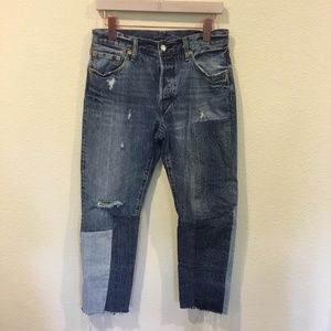 Levi's Jeans - Levi's 501 ragged lands raw hem jeans 27x27