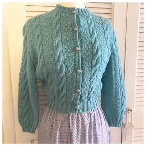 Sweet Vintage 1960's Knit Sweater Girl Sweater, S