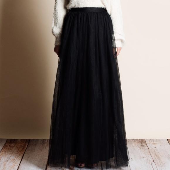 265f1b581b Bare Anthology Skirts | Black Tulle Skirt | Poshmark