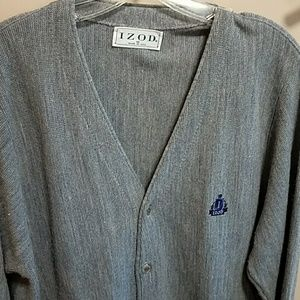 Izod CARDIGAN sweater VINTAGE made USA