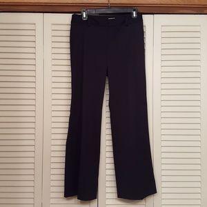 TRINA TURK BLACK FLAT FRONT DRESS PANT