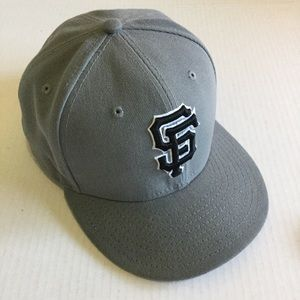 NEW ERA Gray  SF Giants Baseball Cap size 7 5/8