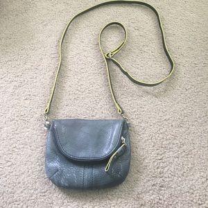 Blue LODIS Leather Mini Crossbody