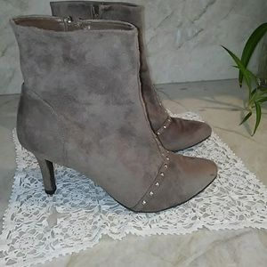 Suede Studded Booties ankle boots Sz 11