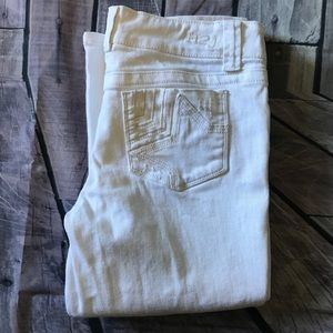 H2J white cropped denim jeans for sale