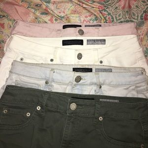 4 Different High waisted jeggings!