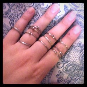 Hipster ring and midi ring set as shown