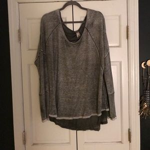Gray Free People Top!