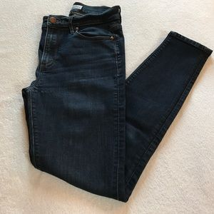 Loft modern high waist skinny ankle jeans.