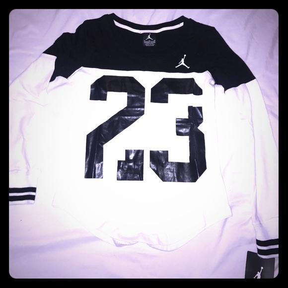 Jordan Shirts Tops Girls Long Sleeve Tshirt Poshmark