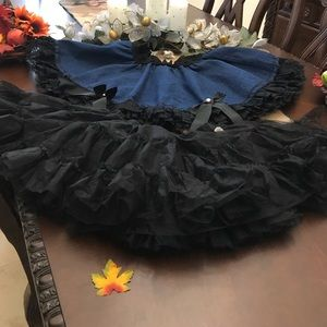 Dresses & Skirts - Blue Jean Skirt/Tutu and Petticoat