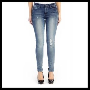 KanCan Distressed Skinny Stretch Jeans