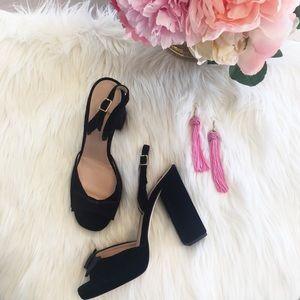 Black Velvet Kate Spade Bow Heels