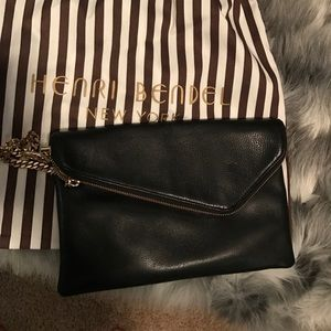 Henri bendel leather clutch/ Cross body