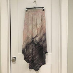 Anthropologie High Low 100% Silk skirt