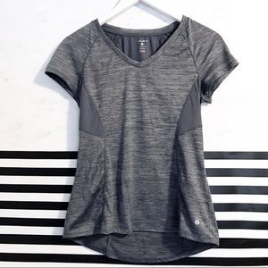 5a8d813425 layer8 · Layer8 gray workout top short sleeve