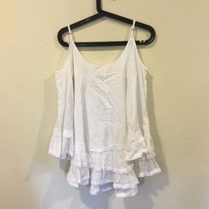 Band of Gypsies Tops - Band of Gypsies white off the shoulder ruffle top