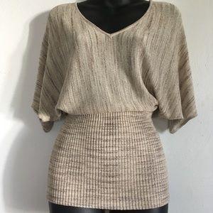 WHBM dolman sleeve metallic sweater GORGEOUS!