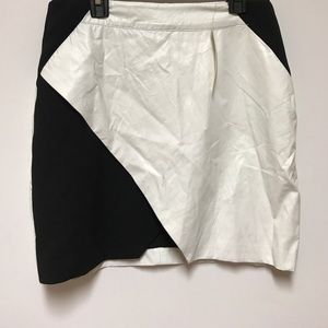 Mustard Seed Black/white faux leather skirt.