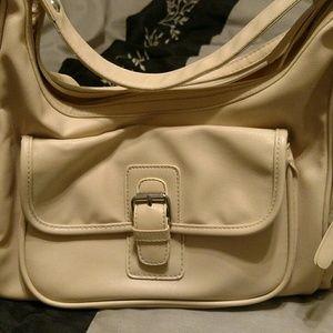 Tan organizer handbag