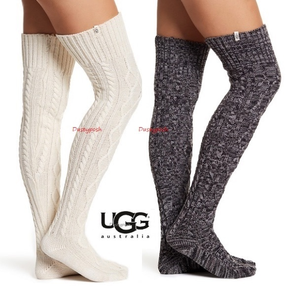 88ec764a7 UGG Cable Knit Over The Knee Socks Thigh High Boot