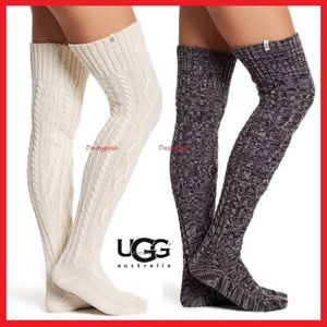 UGG Cable Knit Over The Knee Socks Thigh High Boot