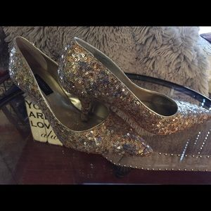 Stunning Sequin WHBM Heels * Worn Twice