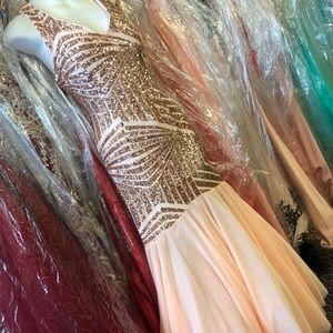 Sequined prom engagement mermaid dress