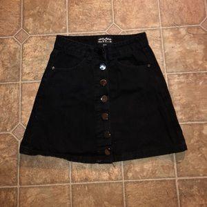 BOOHOO black a-line skirt US size 6