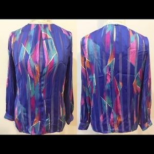 Vintage Multi-color Abstract Blouse