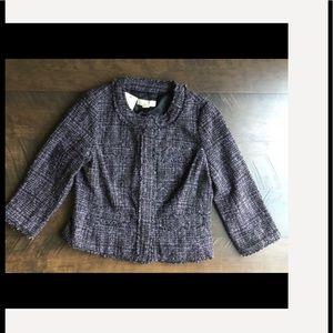Michael Kors Tweed Button Down Blazer