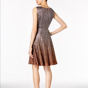 MSK Dresses - 🔥SALE Glitter Ombré Metallic Fit and Flare Dress d8a8510c34ea