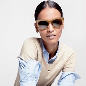 J Crew Betty Sunglasses in light brown/tan